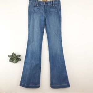 Rich & Skinny Besom Pocket Flare Leg Jeans Sz 24